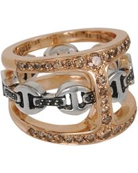 Hoorsenbuhs | Pink Rose Gold Silver Cognac Black Diamond Phantom Clique Ring | Lyst