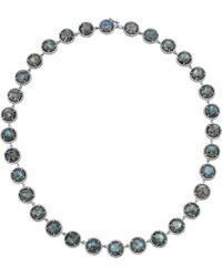 Irene Neuwirth | Green Labradorite Pave Diamond Necklace | Lyst