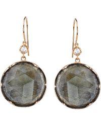 Irene Neuwirth - Gray Labradorite, Diamond & Rose Gold Drop Earrings - Lyst