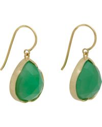 Irene Neuwirth Green Rose Cut Chrysoprase Drop Earrings