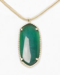 Kendra Scott - Green Emma Necklace 14 - Lyst