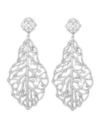 Kendra Scott White Pave Cz Branch Hourglass Earrings