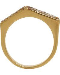 Maiyet - Metallic Champagne Diamond Grey Horn Geometric Ring - Lyst