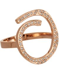 Ileana Makri Metallic Diamond Spiral Ring