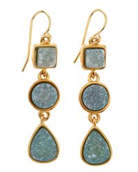 Marcia Moran | Metallic Mixedshape Green Druzy Drop Earrings | Lyst