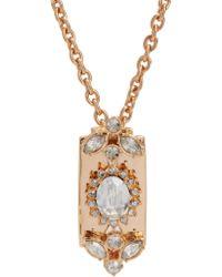 Mawi Pink Crystal Razor Blade Pendant Necklace