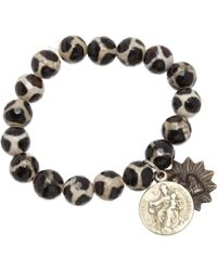 Miracle Icons | Black Animal Print Icon Bracelet for Men | Lyst