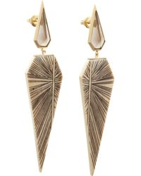 Monique Péan - Gray Woolly Mammoth & Smoky Topaz Earrings - Lyst