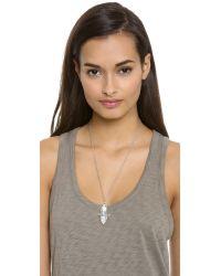 Pamela Love - Metallic Shield Pendant Necklace - Lyst