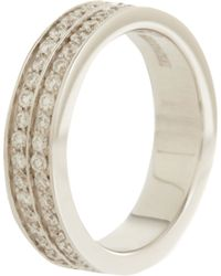 Repossi - Metallic Diamond White Gold Onerow Phalanx Berbère Ring - Lyst