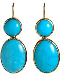 Sandra Dini - Metallic Turquoise Drop Earrings - Lyst