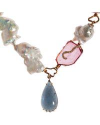 Sharon Khazzam Multicolor Pearl Indie Necklace