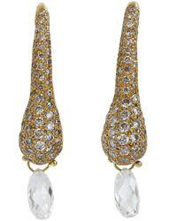 Ten Thousand Things White Diamond Briolette Earrings