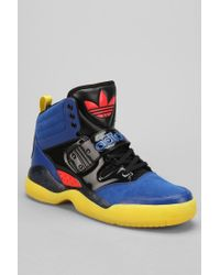 Lyst urban outfitters adidas hackmore hightop scarpe blu per gli uomini.