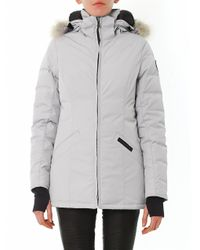 Canada Goose | Gray Dorset Fur-Trim Down Coat for Men | Lyst