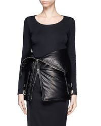 Givenchy Leather Puffer Down Corset Belt In Black Lyst