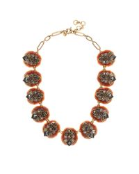 J.Crew Metallic Dazzling Pebble Necklace