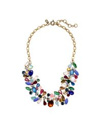J.Crew | Multicolor Asymmetrical Stone Necklace | Lyst