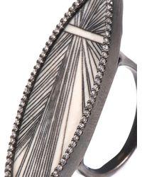 Monique Péan - White Diamond Fossilised Mammoth Muyal Ring - Lyst