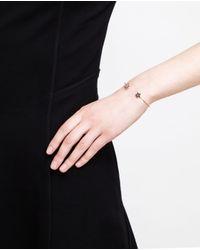 Rosa De La Cruz - Black 18k Gold And Diamond Star Bangle - Lyst