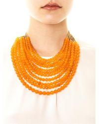 Rosantica - Orange Raissa Agate Necklace - Lyst
