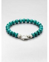 Stephen Webster - Metallic Malachite Beaded Bracelet for Men - Lyst