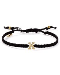 Tai | Initial Bracelet On Black Cord | Lyst