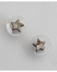 Tuleste | Metallic Gunmetal Plated Star Stud Earrings | Lyst