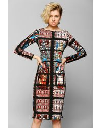 Urban Outfitters Multicolor Glamorous Stained Glass Midi Dress