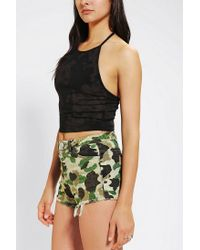 Urban Outfitters - Green Truly Madly Deeply Cropped Halter Top - Lyst