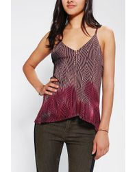 Urban Outfitters | Pink Silence Noise Zip Cami | Lyst