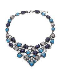 ABS By Allen Schwartz | Blue Jewel Bib Necklace | Lyst