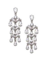 Adriana Orsini | Metallic Sterling Silver Sparkle Chandelier Earrings | Lyst