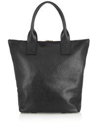 Alexander McQueen - Black Padlock Leather Tote - Lyst