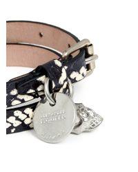 Alexander McQueen   Multicolor Snake-effect Leather Wrap Bracelet for Men   Lyst