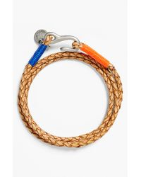 Caputo & Co. | Natural Washed Braided Leather Bracelet for Men | Lyst