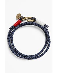 Caputo & Co. | Blue Washed Braided Leather Bracelet for Men | Lyst