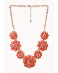 Forever 21 | Multicolor Flower Statement Necklace | Lyst