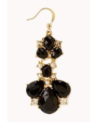 Forever 21 - Black Regal Twotone Drop Earrings - Lyst