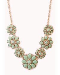 Forever 21 - Pink Floral Goddess Bib Necklace - Lyst