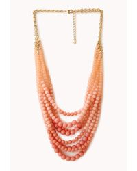 Forever 21 | Pink Favorite Layered Bead Necklace | Lyst