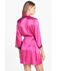 In Bloom by Jonquil | Pink Lace Trim Robe | Lyst