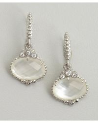 Judith Ripka | Metallic Mother Of Pearl And Silver Drop Earrings | Lyst