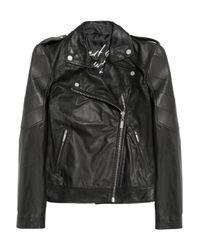 Karl Lagerfeld Black Omar Quilted Leather Biker Jacket
