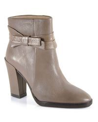 kate spade new york - Gray Mannie Leather Bow Bootie - Lyst