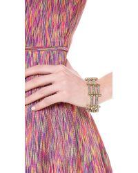 Lady Grey | Metallic Channel Link Bracelet | Lyst