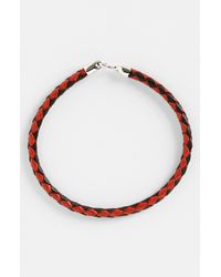 Mateo Bijoux | Red Greek Braided Leather Bracelet for Men | Lyst