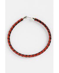 Mateo Bijoux | Red Greek Braided Leather Bracelet for Men | Lyst