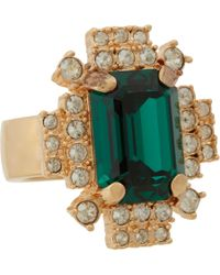 Mawi | Metallic Emerald Crystal Geometric Ring | Lyst