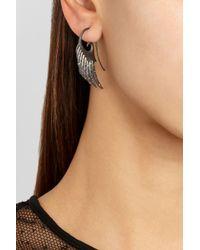 Noor Fares - Gray Galactic Garden Wings Rhodiumplated Sterling Silver Multistone Earrings - Lyst